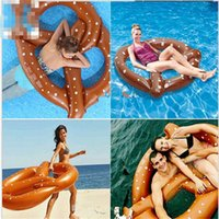 Wholesale Inflatable Giant Donut Floating Swim Ring Tyre Tube Beach Swimming Ring Pool Aid Toys