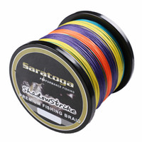 Wholesale Super Strong quot Saratoga quot Strands m lb lb PE Braided Fishing Line Multifiament Fishing Wire Sea Fishing