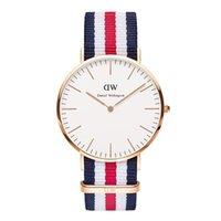 Cheap Top Brand Luxury Daniel Wellington Watches DW Watch For Men women Leather strap Japan movement Military Quartz Clock Reloj 40mm.