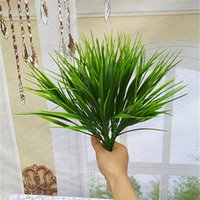 artificial grass arrangements - Plastic Artificial Grass Leaves Green Imitation cm Length Plants for Home Garden Wedding Party Decoration Arrangement