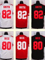 aldon smith jersey - 2016 New Men s Aldon Smith jerry rice Black White Red Top Quality jerseys Drop Shipping