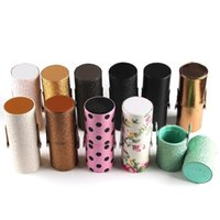 Wholesale DHL shipping New Empty Portable Makeup Brush Round Pen Holder Cosmetic Tool PU Leather Cup Container Solid Colors Optional Case