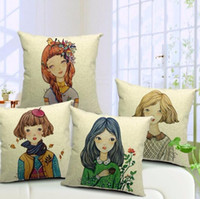 beautiful body photo - Beautiful girl cartoon photo colorful clothes pillow massager ornate pillows case home bar show euro travel cover girls gift