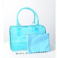 Claro bolsa transparente del bolso del bolso de compras de cuero PVC bolsas de playa toda la venta de la manera del color del caramelo de las mujeres del totalizador del bolso del monedero de plástico de PVC 9 colores