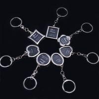 advertising tin - Photo Frame Keychain handbag Metal Keyring Advertising gift Trinket for Men Women Accept LOGO