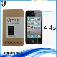 Wholesale 1 pieces mm Explosion proof Screen Protector D Tempered Glass Film for iphone plus S SE S C Retail Package