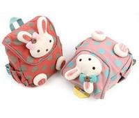 baby rucksacks - 2016 Hot Sale Children School Bags Cartoon Rabbit Backpack Baby Toddler kids Book Bag Kindergarten Rucksacks