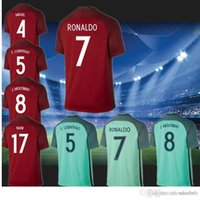 Wholesale Portuga soccer jerseys soccer jerseys new Portugal home and away jerseys footbal shirts Portugal jersey thailand quality