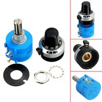 Wholesale New Arrival PC K Ohm Round S L Potentiometer With Turn Counting Dial Rotary Knob New W
