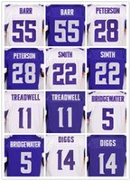 Wholesale Men s Minnesota football Vikings Laquon Treadwell Teddy Bridgewater Stefon Diggs Adrian Peterson Anthony Barr elite jerseys