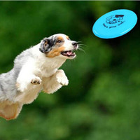Wholesale Plastic Puppy Toy High Quality Durable Dog Frisbee Toy Flying Disc Tooth Resistant Outdoor Bright Color Large Dog Training Fetch Toy E