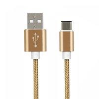 2M 6FT Charge rapide USB 2.0 Type C Câble Tissu tissé Cordon tressé Data Sync Charging Metal Head