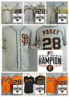 baseball jersey lettering - 2016 New San Francisco Giants Buster Posey Jersey SF Giants Baseball Jersey W Champion Patch Stitched Name Lettering