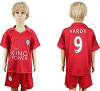 bamboo double - Leicester City kids Jersey VARDY home blue away black MAHREZ DRINKWATER OKAZAKI KING Leicester City children soccer Jersey shirt