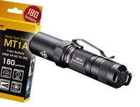 battery clip aa - NiteCore MT1A Lumen Compact Mini LED Flashlight w Clip Use x AA Battery
