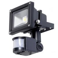 Sensor de movimiento por infrarrojos PIR llevó el reflector 10W 20W 30W 50W COB IP65 llevó la iluminación de inundación para el jardín al aire libre llevó el proyector 110-265V