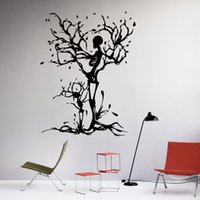 adhesive meaning - The Skull Symbolizes The Great Maternal Love Tree Wall Stickers Art Mural Profound Meaning Shocking Meaningful Home Decor