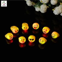Wholesale 2016 New Emoji Qq WeChat Expression LED Rings Flashing Rings Halloween Light Up Finger Rings Festival Party supplies lighted toys