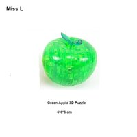 Wholesale Green Apple D Crystal Puzzle Jigsaw Model Diy Intellectual Toy Gift Creative Game