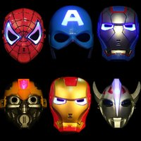 Wholesale Halloween Props Cartoon Mask Children Mask plastic mask party mask Avengers Spiderman Ironman Captain America Hulk Batman Cartoon Character