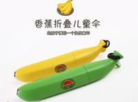 Wholesale 2016 new hot sale Banana Paraguas Rain and Parasol Cute Umbrella For new Children Novelty Kids Gifts Um banana Shaped Folding Umbrella