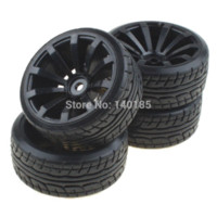 antenna manufacturers - 4PCS Tires With spoke Black Wheel Rims For RC Nitro Car Flat Racing Car wheel rim manufacturers