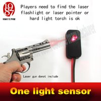 Wholesale laser flashlight to escape magic torch to open the lock Real room escaping game one light sensor prop