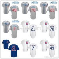 alcantara blue - Chicago Cubs Jersey Arismendy Alcantara Jake Arrieta Joe Maddon Junior Lake Grey Blue White Pinstripe