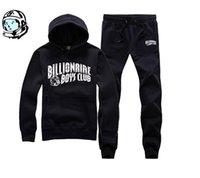Cheap Wholesale-BBC Billionaire Boys Club Men high quality men's cotton HIP HOP Hoodies black and blue hoodie +pants