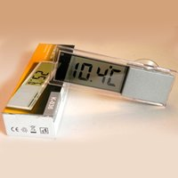 Wholesale Digital Thermometer Electronic Liquid automotivo diagnostic tool Transparent Sucker LCD Thermometer Indoor Automotive Supplies