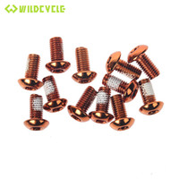 Wholesale 12Pcs M5x10mm Bike Bicycle Disc Brakes Rotor Screw Bolts Nuts Cycling Accessories Black Silver Red Blue Gold