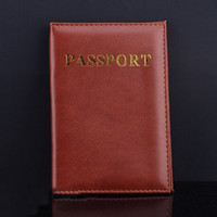 Wholesale 1pc Fashion Passport Cover PU Leather ID Holders Documents Bag Casual Travel Passport Holder Card Case