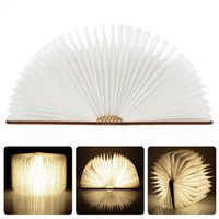 best book lights - 2016 new Folding LED Nightlight Creative LED Book Light Lamp Best Home Novelty Decorative USB Rechargeable Lamps White Warm