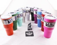 Wholesale Yeti Rambler with lid oz Lowball Stainless Steel Tumbler Cup Insulation Cups Bilayer Stainless Steel Tumbler Mug