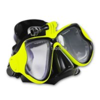 Wholesale 1pcs gopro diving and snorkel gear tempered lens and silicone diving mask cheap price newest gopro mask designs freeshipping