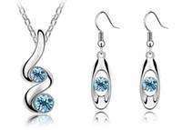 Wholesale South Korea Korean Austria crystal jewelry crystal earrings triangle earrings for party earrings jewelry Korean sprout earrings wholesalers