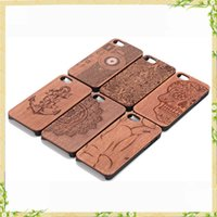 Wholesale iPhone plus case iPhone s plus case Unique Shock Proof Hybrid Rubberized Real Wood Case for Apple iphone rose wood case