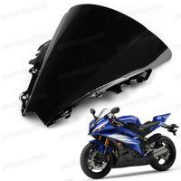 al por mayor yamaha r6 motocicleta parabrisas-Nueva motocicleta doble burbuja parabrisas parabrisas parabrisas ABS para Yamaha YZF R6 2006-2007