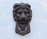 Wholesale 2 Pieces Rustic Cast Iron Lion Doorknocker Door Knocker Lionhead Doorknockers Lions Home Decor