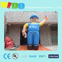 Wholesale adversiting inflatable cartoon inflatable Electrician cartoon characters site landscape layout props air cartoon medels factory outlets