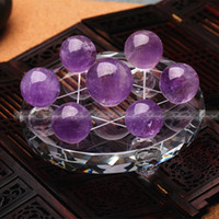 ball array - Feng Shui purple crystal balls Seven Star Array Exorcise Statue With Shelf F483