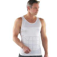 Slimming Shaper Corpo Belly Fatty Underwear Vest shirt 2016 dos homens do espartilho Compression
