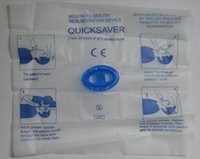 Wholesale Free shiping Quicksaver for Emergency Kits First Aid Kit Mouth to Mouth Resuscitation Device Clear Always of any obstructions PSK EDS MUST