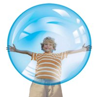 Wholesale The amazing Inflatable Rubber Wubble Bubble Ball Out Door Ball Toys for children Kids without Air Pump