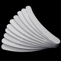 Wholesale Fashion White Nail Files Art Manicure Tools Grey Curve Polish Manicures Sanding