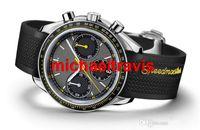 battery speed - luxury brand speed master Rubber Style Black watch OM11 moon watch mens watch quartz movement chronograph stopwatch