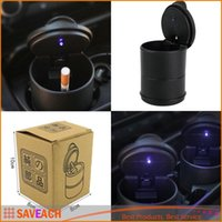 Wholesale Portable Auto Car Truck LED Cigarette Smoke cigar car Ashtray cendrier cenicero cinzeiro ceniceros asbak Ash Cylinder Cup Holder