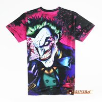 Wholesale new the Joker d t shirt funny comics character joker with poker d t shirt summer style outfit tees top full printing