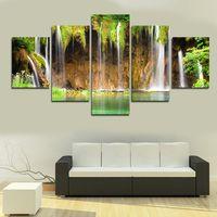 art picture wallpaper - 5 canvas mountain stream wallpaper art prints