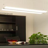 Wholesale led Frameless light guide plate droplight living room restaurant Hotels office crystal chandelier Creative LED panel light Pendant Lamp